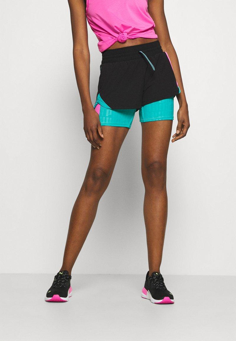 Puma - TRAIN FIRST MILE XTREME - Pantalón corto de deporte - black/viridian green