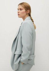 Violeta by Mango - Short coat - azul celeste - 3
