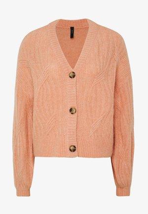 YASPIXIE KNIT CARDIGAN - Cardigan - coral pink