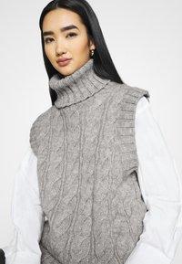 YAS - YASCANNA - Print T-shirt - light grey melange - 4