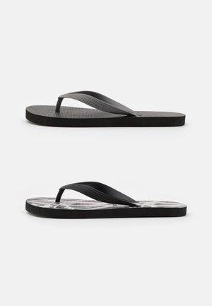 2 PACK RECYCLED - Sandály s odděleným palcem - black/grey
