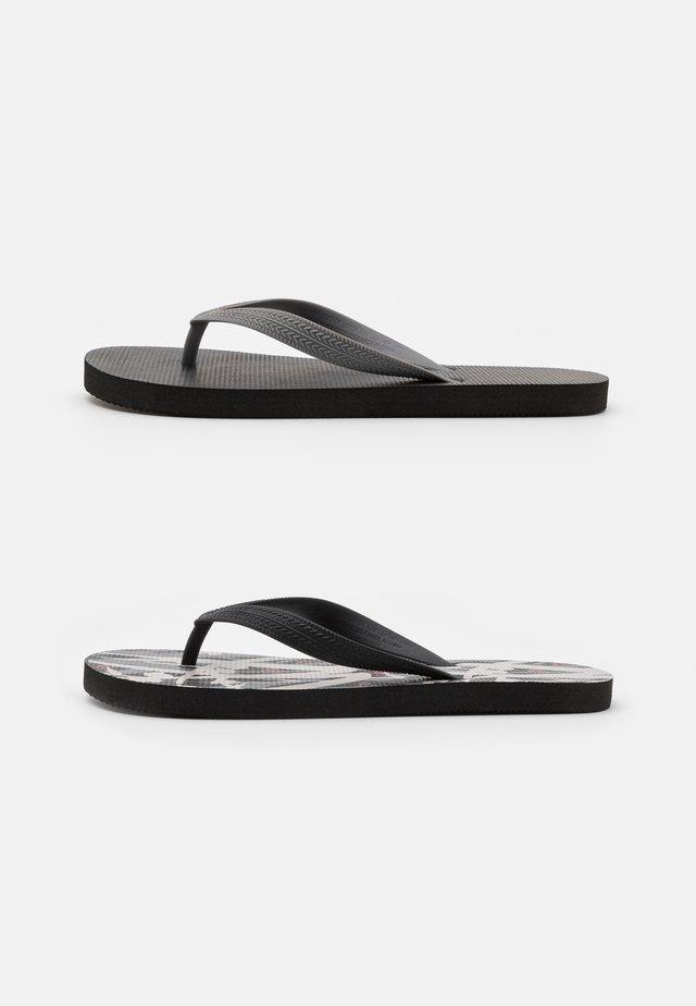 2 PACK RECYCLED - Sandalias de dedo - black/grey