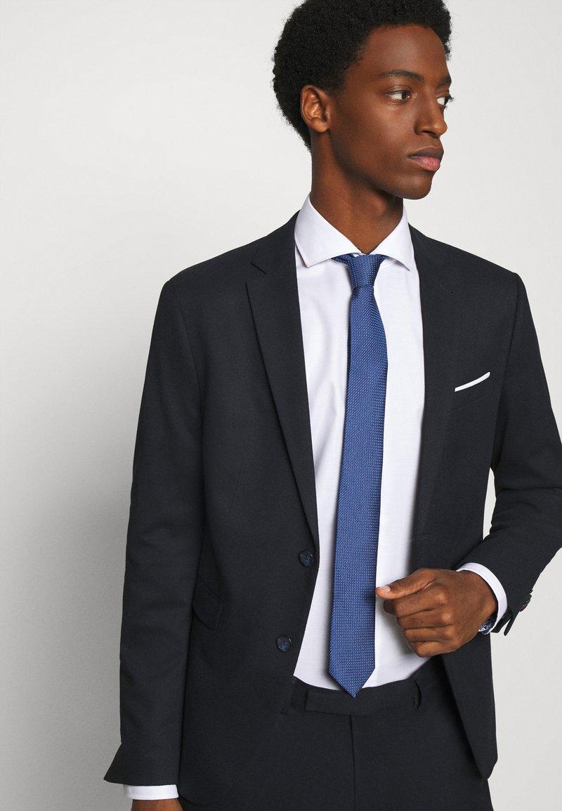 Calvin Klein - DOTTED SQUARE TIE - Cravatta - blue