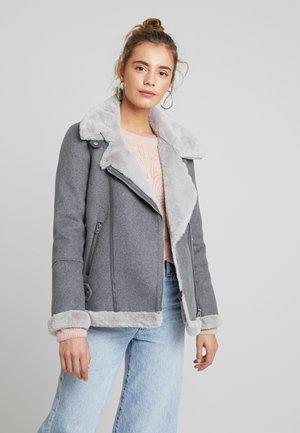 VMFURRY JACKET - Lett jakke - medium grey melange