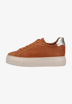 Trainers - cognac snake