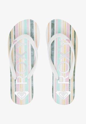 TAHITI VII - T-bar sandals - white/pink/multi
