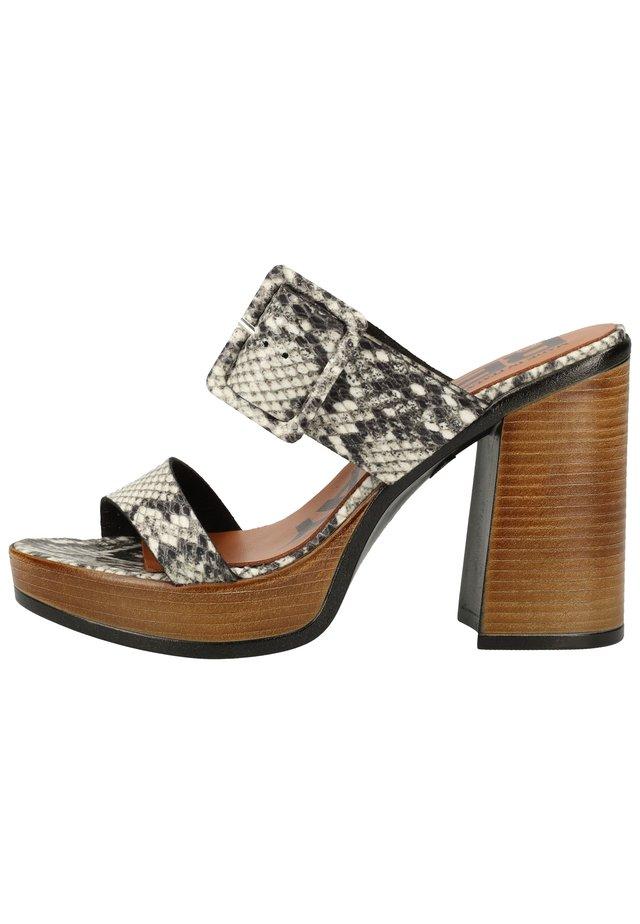 PANTOLETTEN - High Heel Sandalette - stone 055