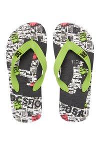 DC Shoes - T-bar sandals - black/lime - 2