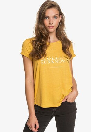 Print T-shirt - mineral yellow