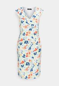 PRINTED MATTE DRESS - Shift dress - cream/blue/multi