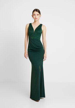 HIGH SPLIT MAXI DRESS - Occasion wear - forest green