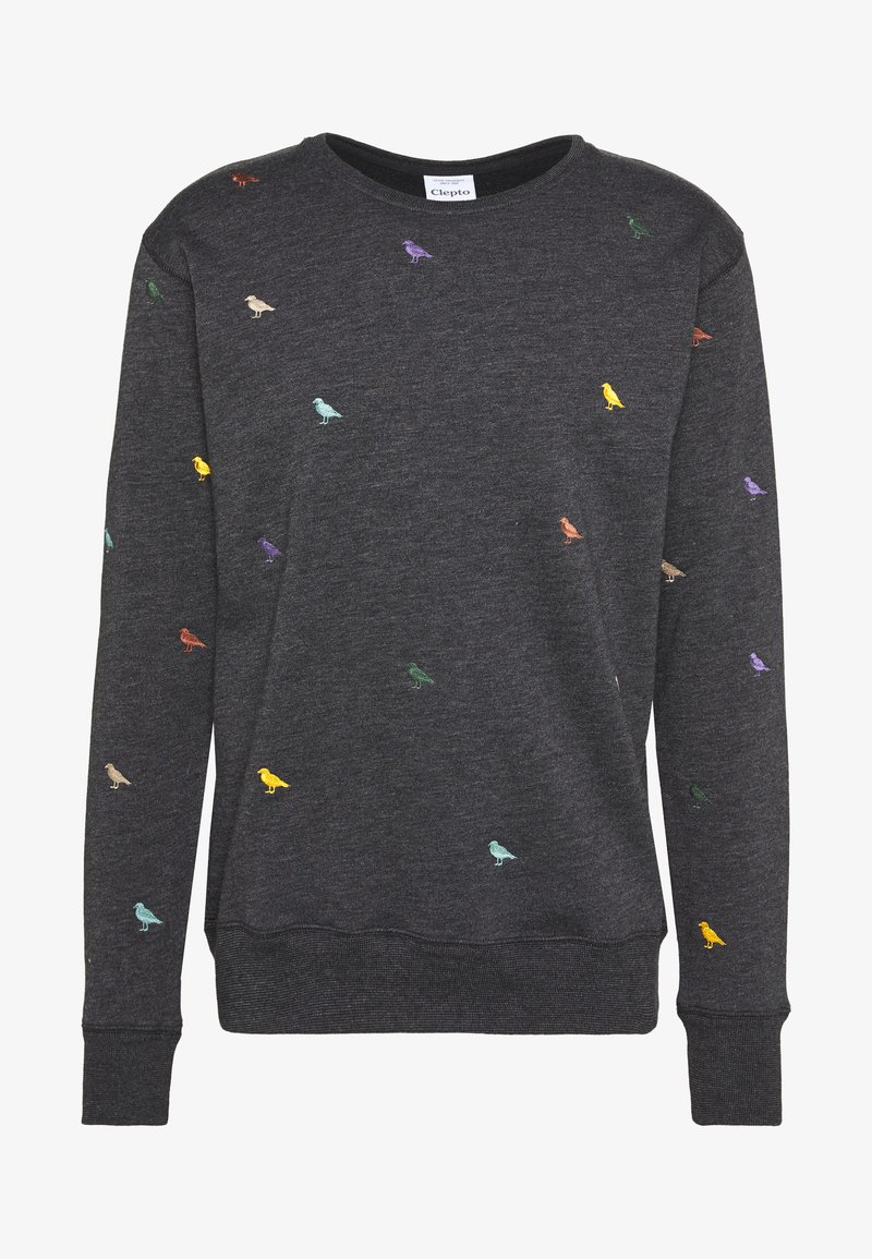 Cleptomanicx - GULL ALLOVER - Sweatshirt - black