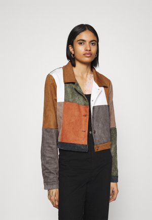 PATCHWORK JACKET WITH BUTTON FRONT - Veste légère - multi