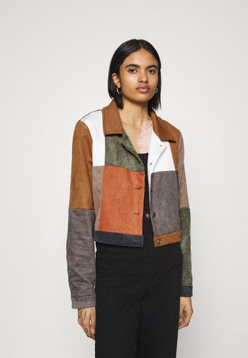 PATCHWORK JACKET WITH BUTTON FRONT - Summer jacket - multi