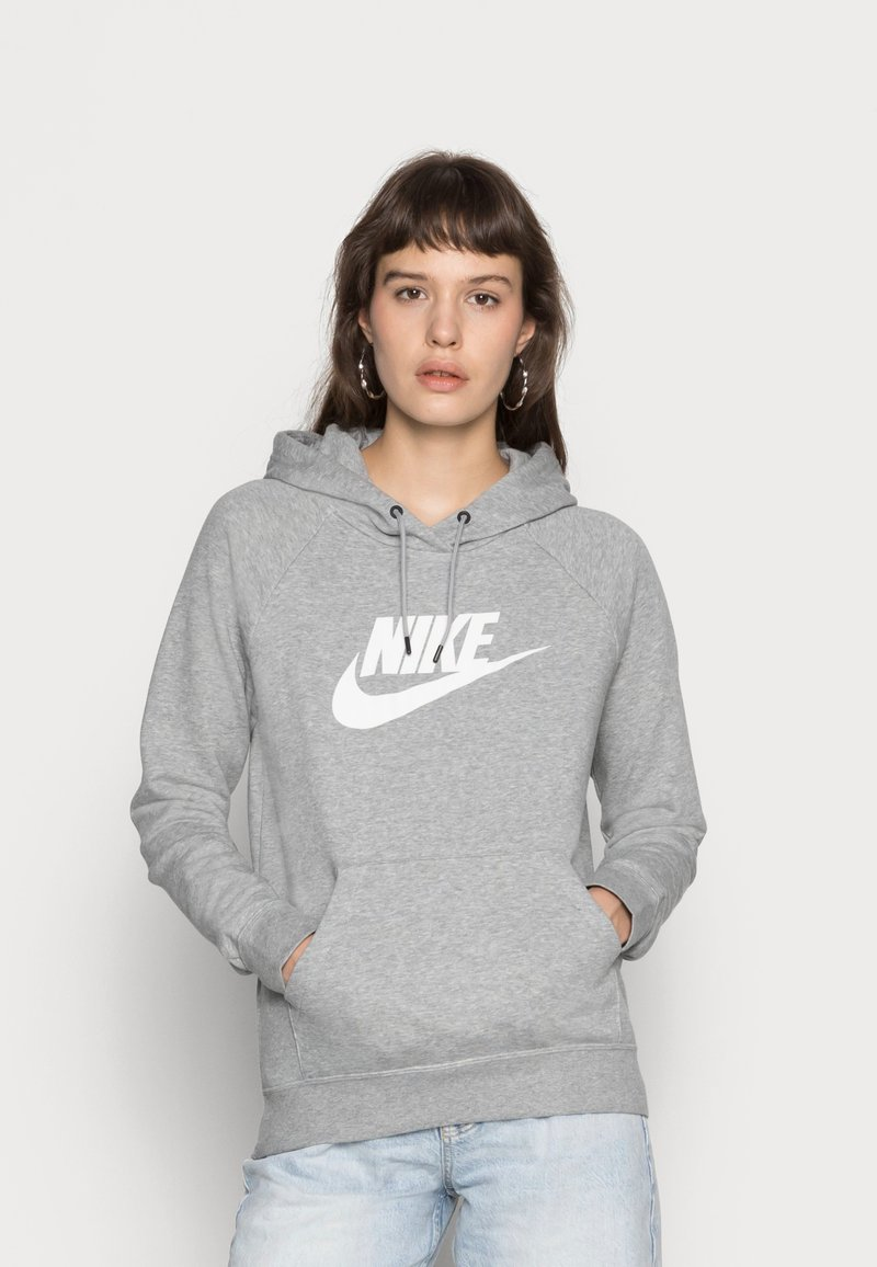 Nike Sportswear - HOODIE - Mikina skapucí - dark grey heather/white