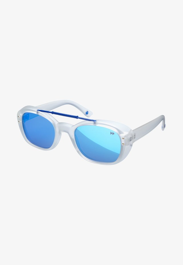 SUNHEROES SUNGLASSES SPUTNIK - Aurinkolasit - matt clear/blue