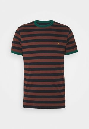 BELGROVE STRIPE TEE - T-shirt imprimé - brown