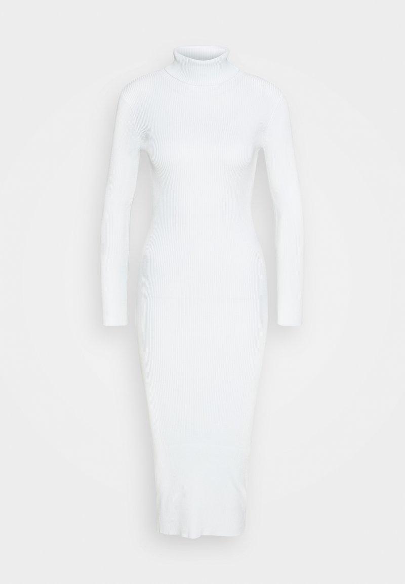 Missguided Petite - ROLL NECK MIDI DRESS - Jumper dress - white