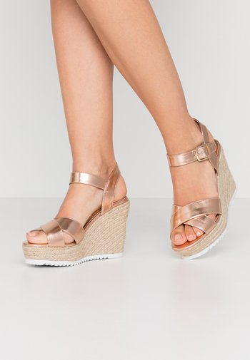 KATYAA - High heeled sandals - rose gold metallic
