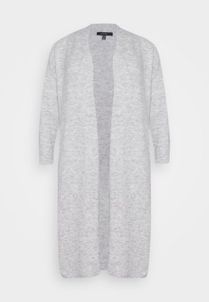 VMTUGAIVA OPEN CARDIGAN - Cardigan - light grey melange