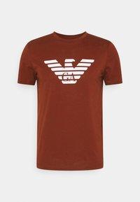 Print T-shirt - marrone chiaro