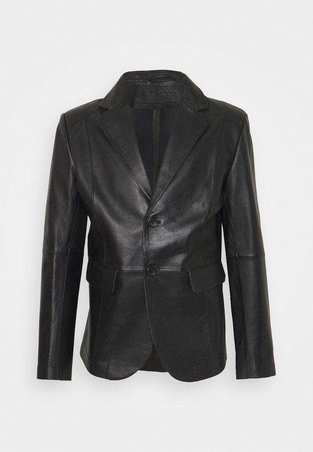 VINCENT LEATHER BLAZER - Leather jacket - black