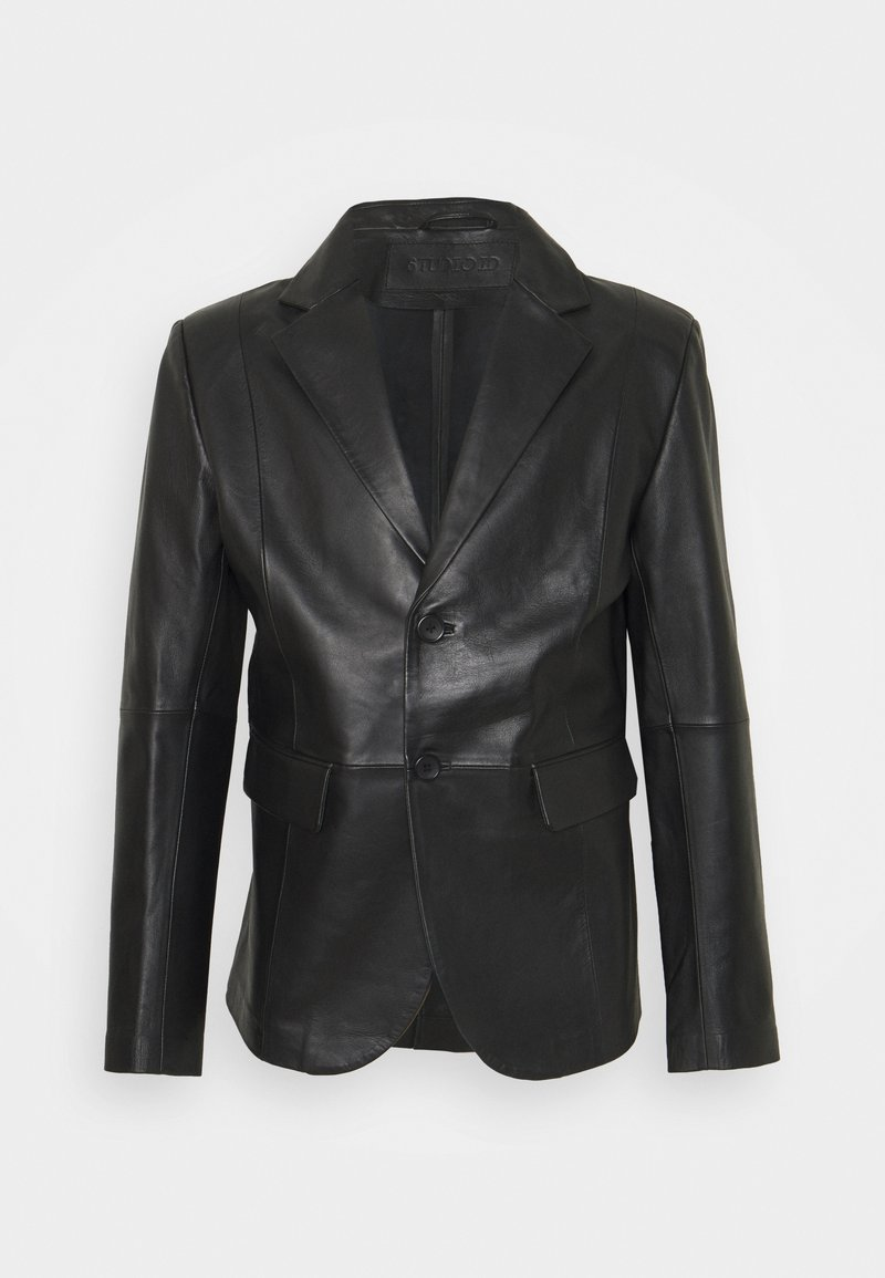 STUDIO ID - VINCENT LEATHER BLAZER - Giacca di pelle - black
