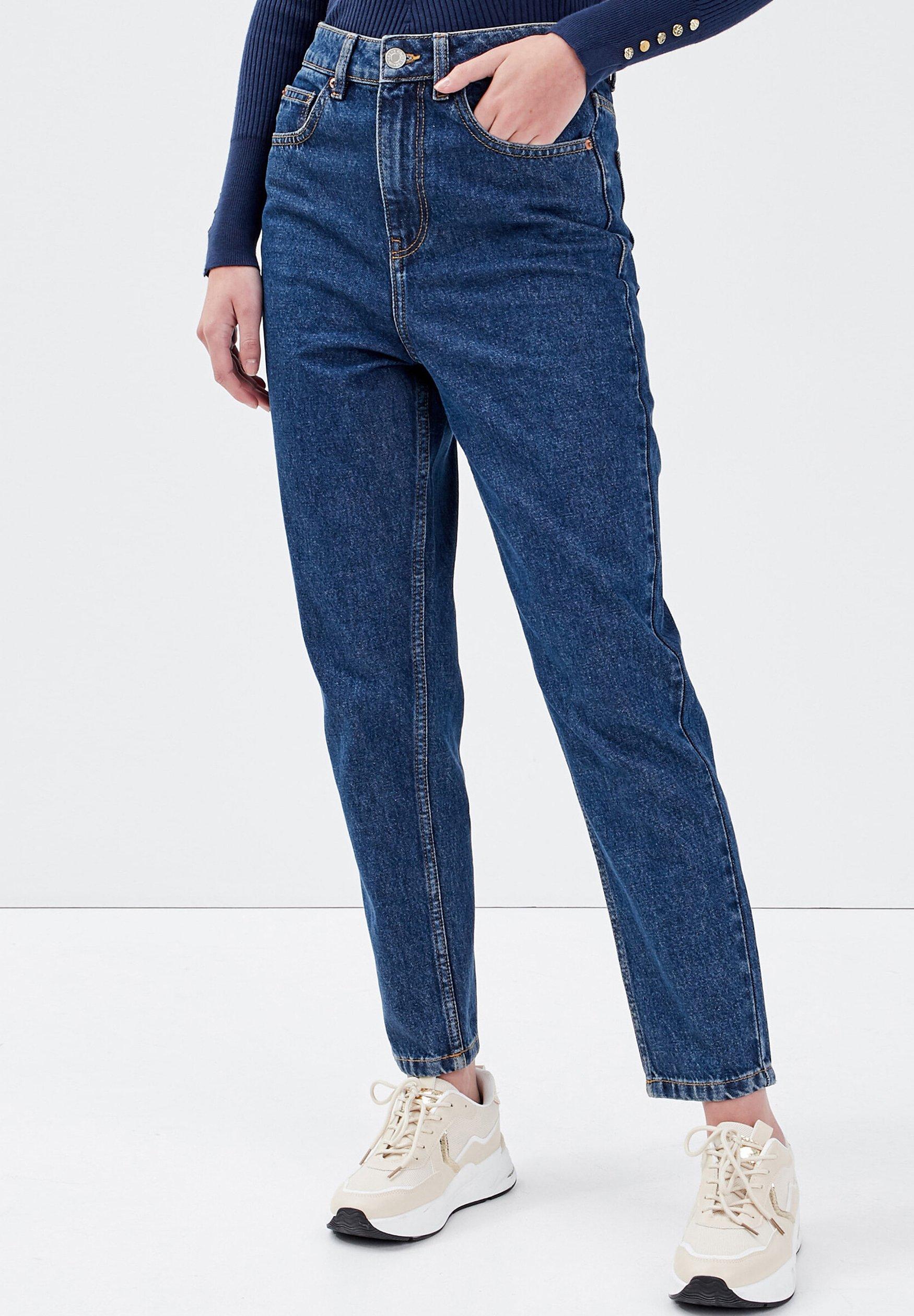 Donna CACHE CACHE MOM-JEANS MIT HOHEM BUND - Jeans slim fit
