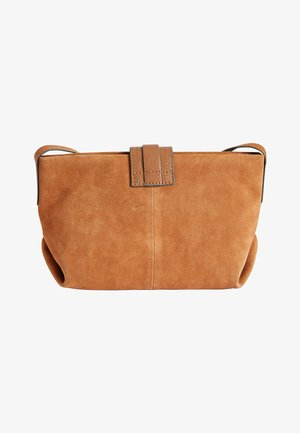 MINK LEATHER AND SUEDE ACROSS-BODY BAG - Borsa a tracolla - brown