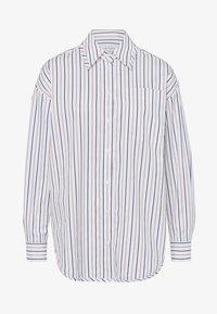 Košile - navy/camel stripe
