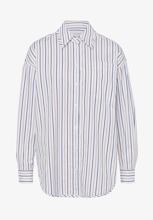 Button-down blouse - navy/camel stripe