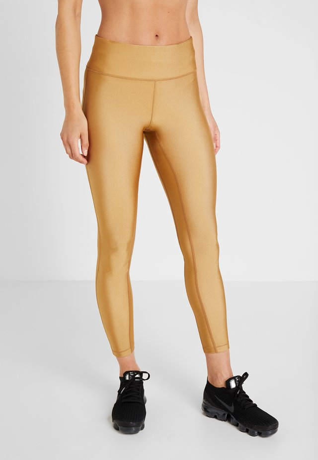 Leggings - golden metallic