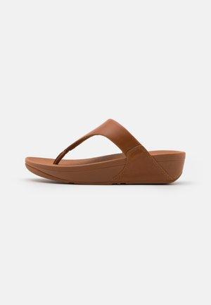 LULU TOEPOST - T-bar sandals - caramel
