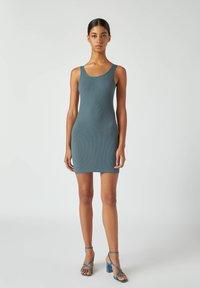 PULL&BEAR - Pouzdrové šaty - blue - 1