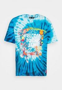 SIKSILK - SPACE JAM TIE DYE GRAPHIC TEE - Print T-shirt - blue/white - 3