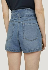 TOM TAILOR DENIM - Denim shorts - used light stone blue denim - 2