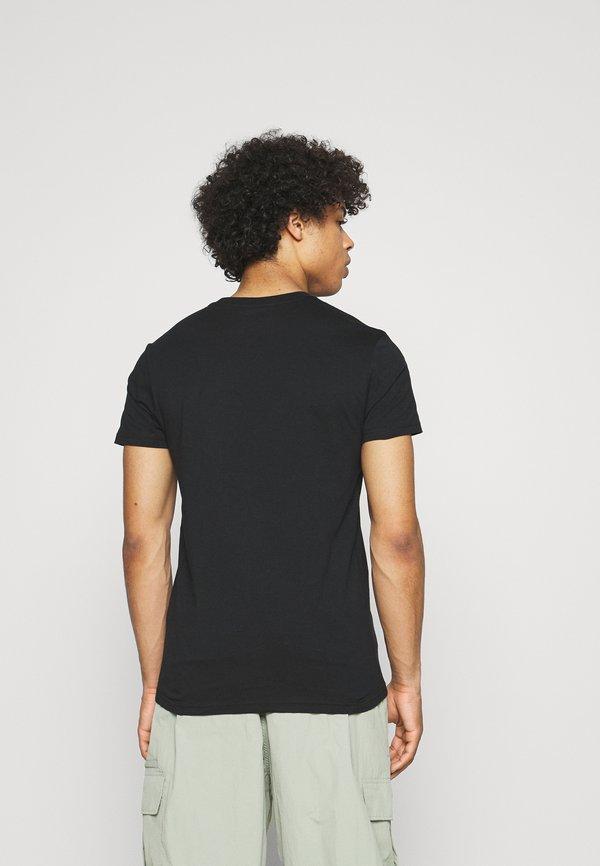 Lee TWIN CREW 2 PACK - T-shirt basic - black/czarny Odzież Męska ATEY