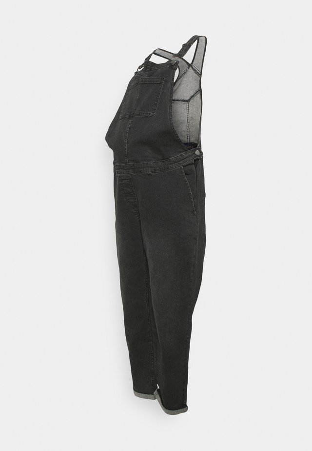 DUNGAREE - Tuinbroek - washed black