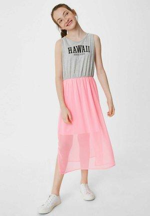 Day dress - gray / pink