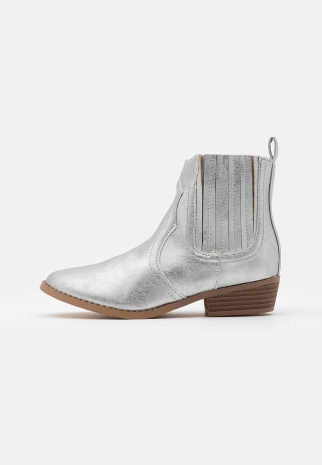 WESTERN BOOT - Cowboy/biker ankle boot - silver