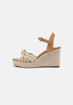 MAIDA COLORS - Platform sandals - multi