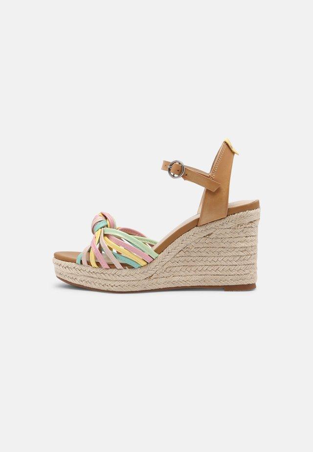 MAIDA COLORS - Sandalen met plateauzool - multi