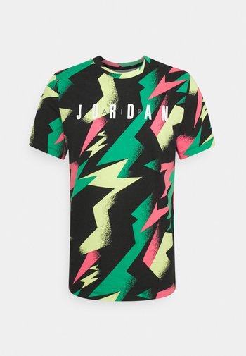 JUMPMAN AIR CREW - Print T-shirt - black/sunset pulse