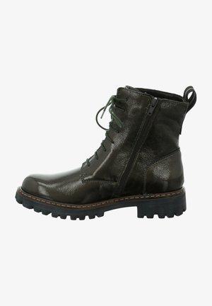 Cowboy/biker ankle boot - oliv