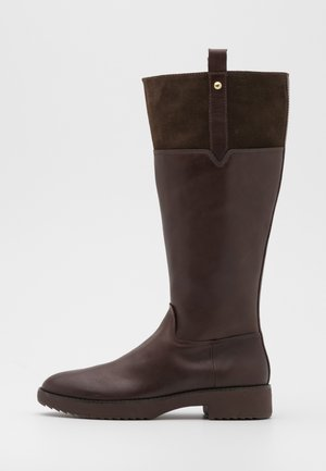 SIGNEY KNEE HIGH BOOTS - Boots - chocolate brown