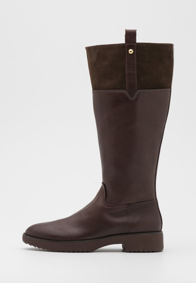 SIGNEY KNEE HIGH BOOTS - Stivali alti - chocolate brown