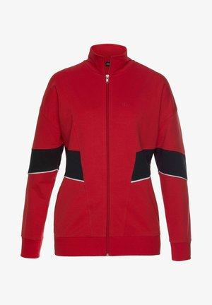 Zip-up sweatshirt - rot-navy-weiß