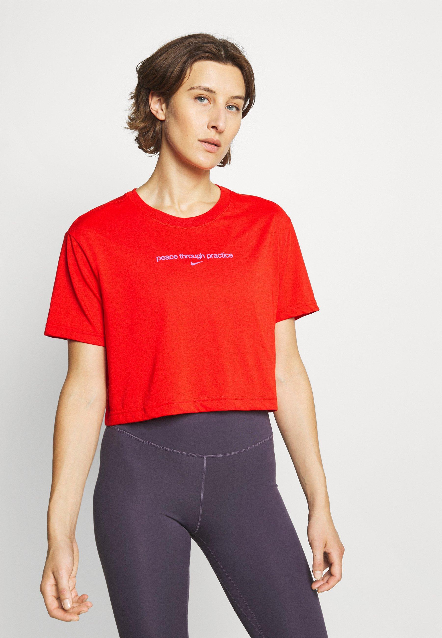 Damer CROP YOGA - T-shirts print
