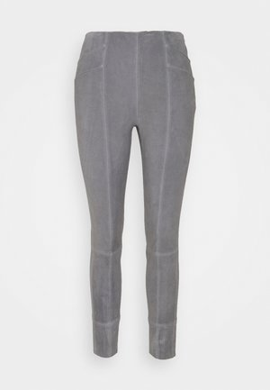 THE HAMPTONS - Leather trousers - cloudy grey