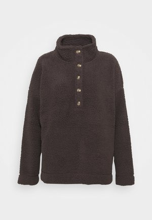 QUARTER BUTTON - Fleece jumper - university grey